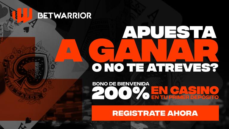 BONO DE BIENVENIDA 200% at Betwarrior casino, PARA JUEGOS SELECCIONADOS, HAZ TU PRIMER DEPÓSITO