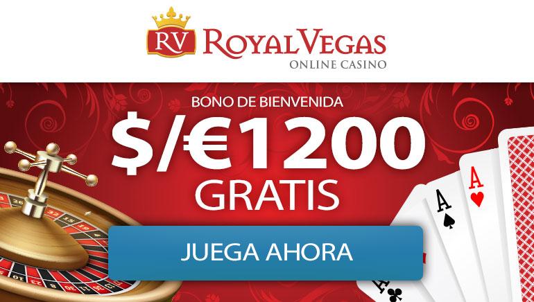 ¡Bienvenido al casino en línea Royal Vegas - BONO POR DEPÓSITO 1200 € Depósito